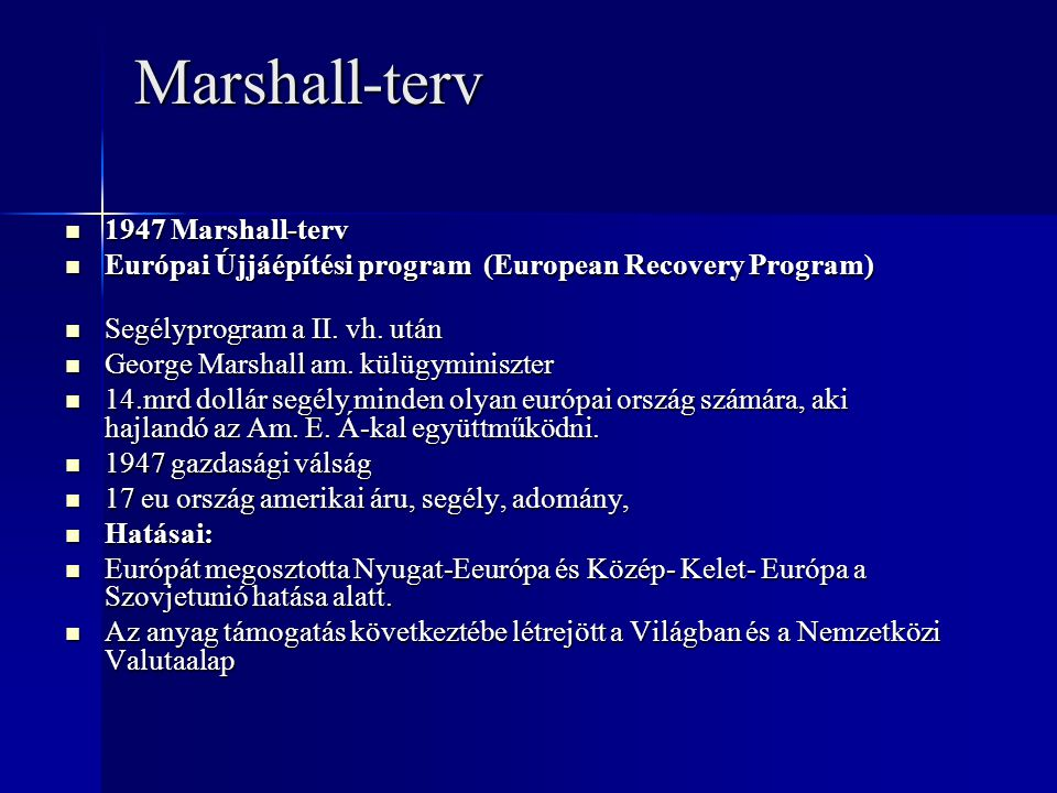 Marshall-terv 1947 Marshall-terv