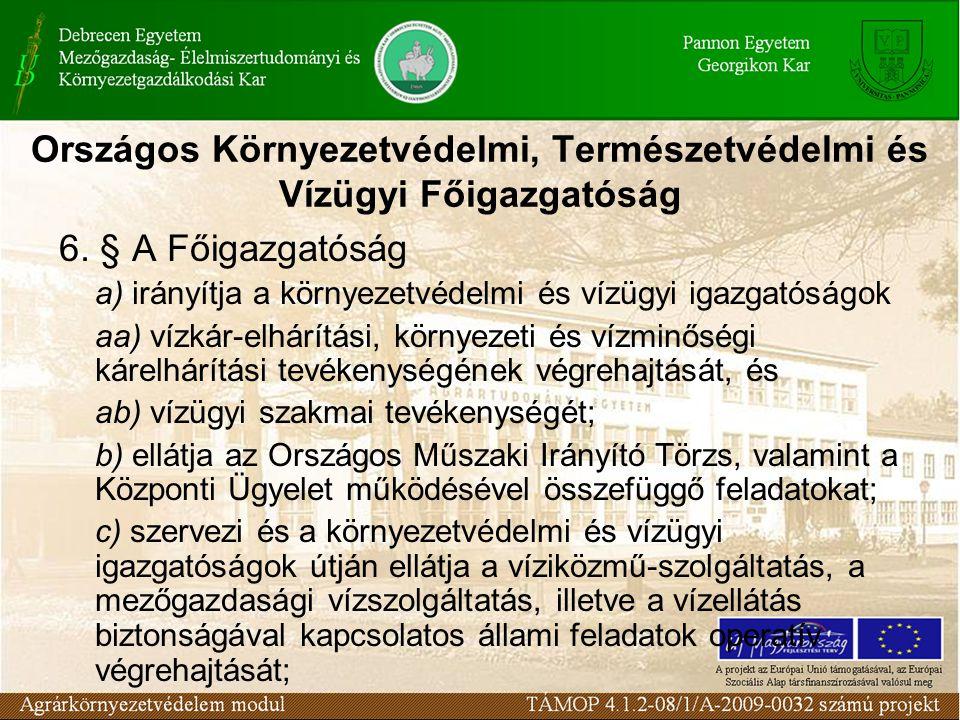 Országos Környezetvédelmi, Természetvédelmi és Vízügyi Főigazgatóság