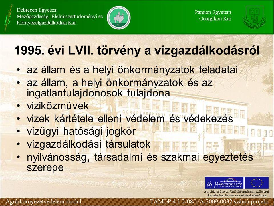 1995. évi LVII. törvény a vízgazdálkodásról