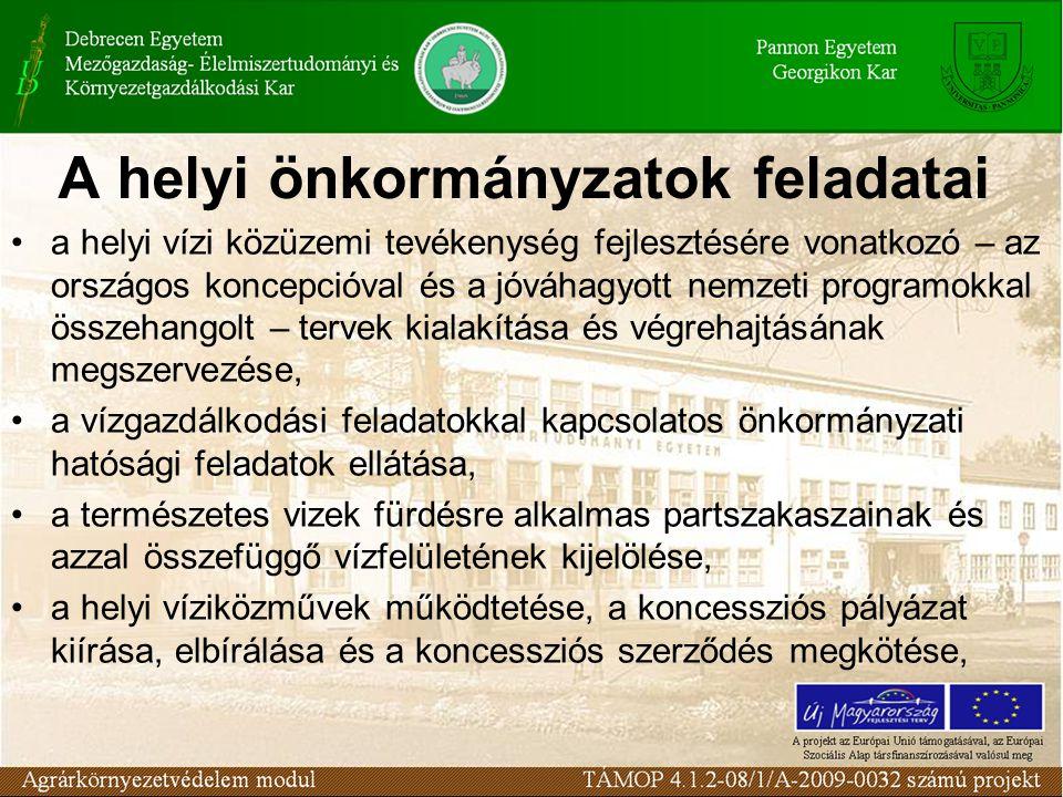 A helyi önkormányzatok feladatai