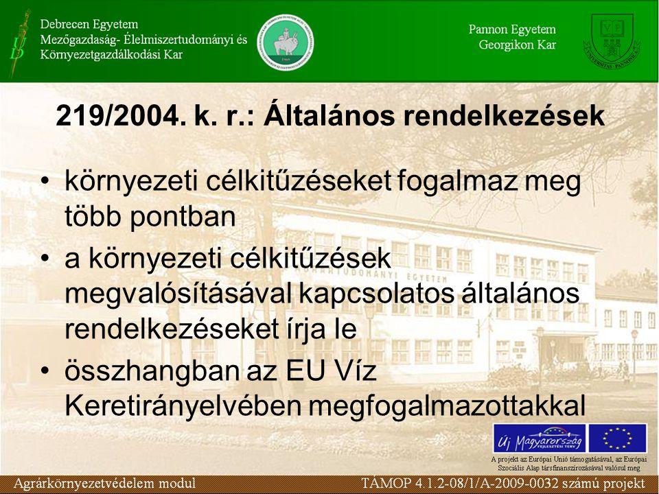 219/2004. k. r.: Általános rendelkezések