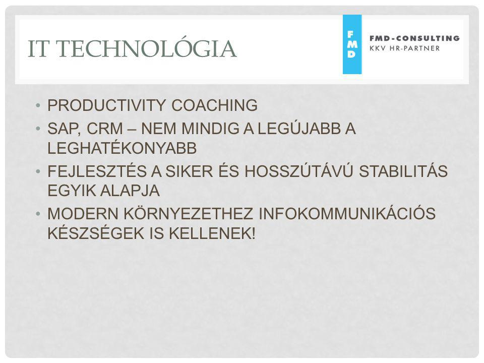IT TECHNOLÓGIA PRODUCTIVITY COACHING