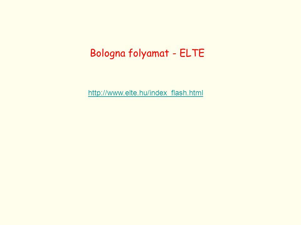 Bologna folyamat - ELTE