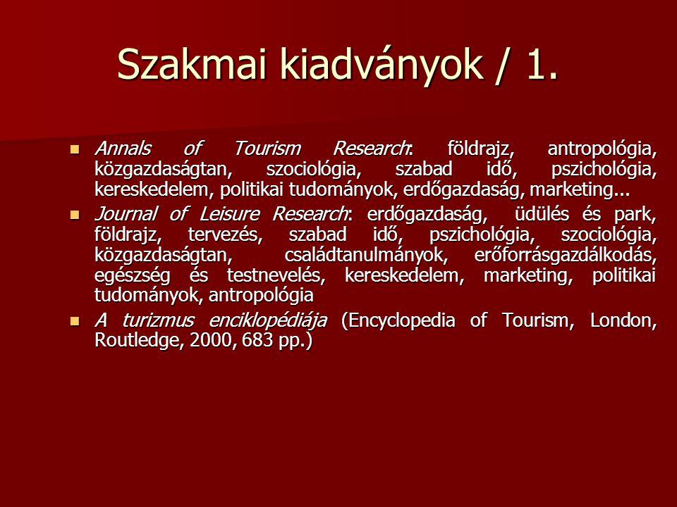 Szakmai kiadványok / 1.