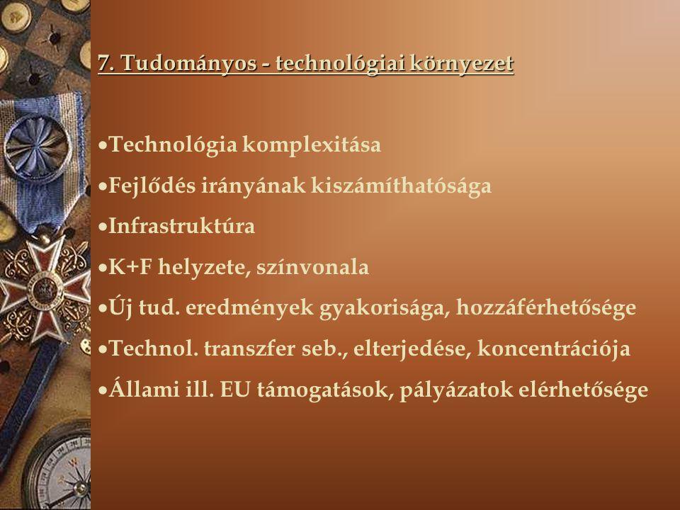 7. Tudományos - technológiai környezet