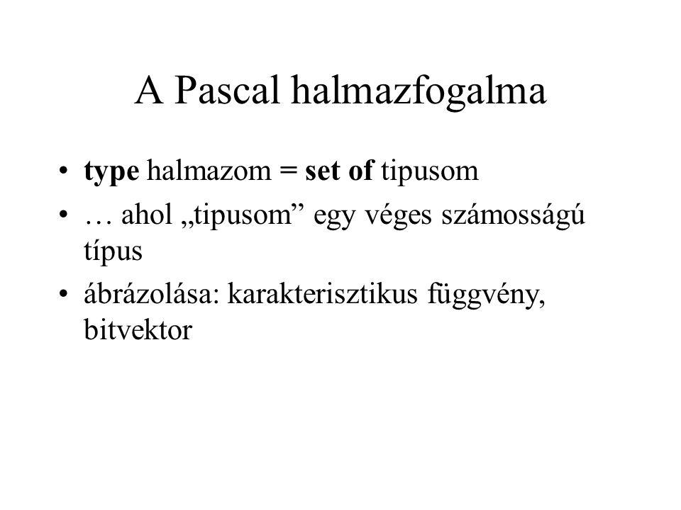 A Pascal halmazfogalma