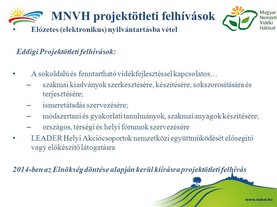 MNVH projektötleti felhívások