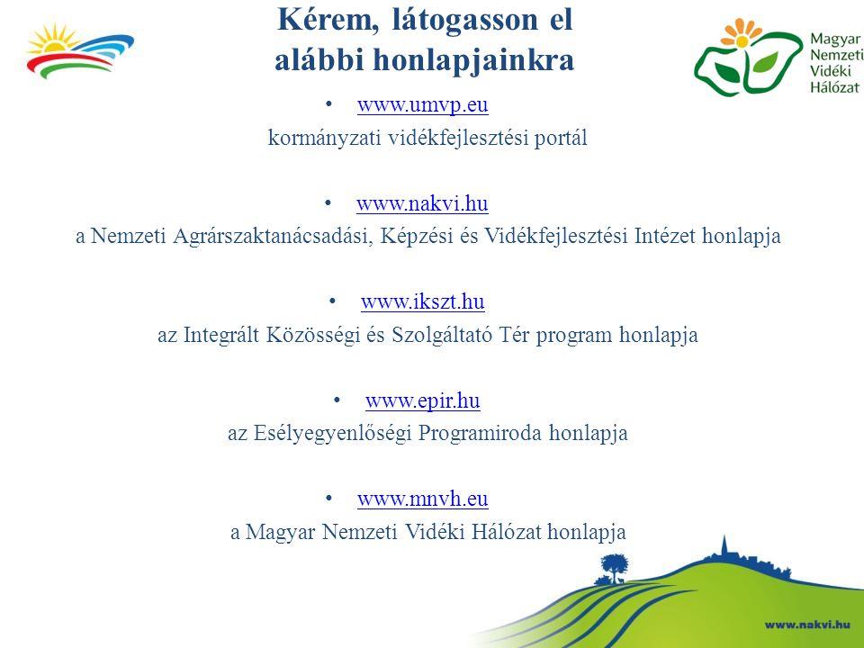 Kérem, látogasson el alábbi honlapjainkra