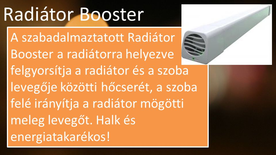 Radiátor Booster