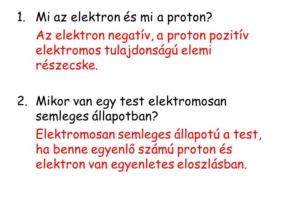 Mi az elektron és mi a proton