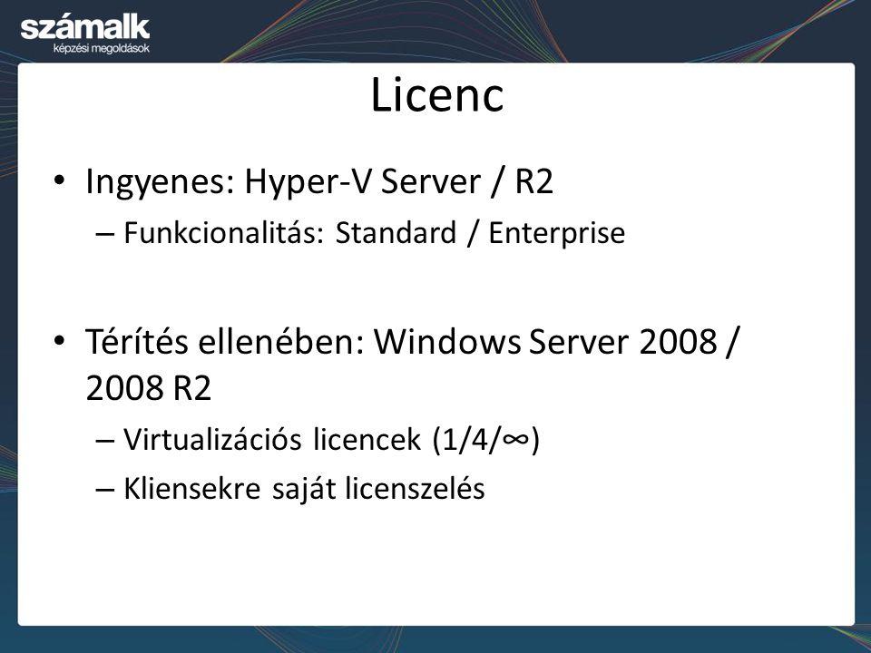 Licenc Ingyenes: Hyper-V Server / R2