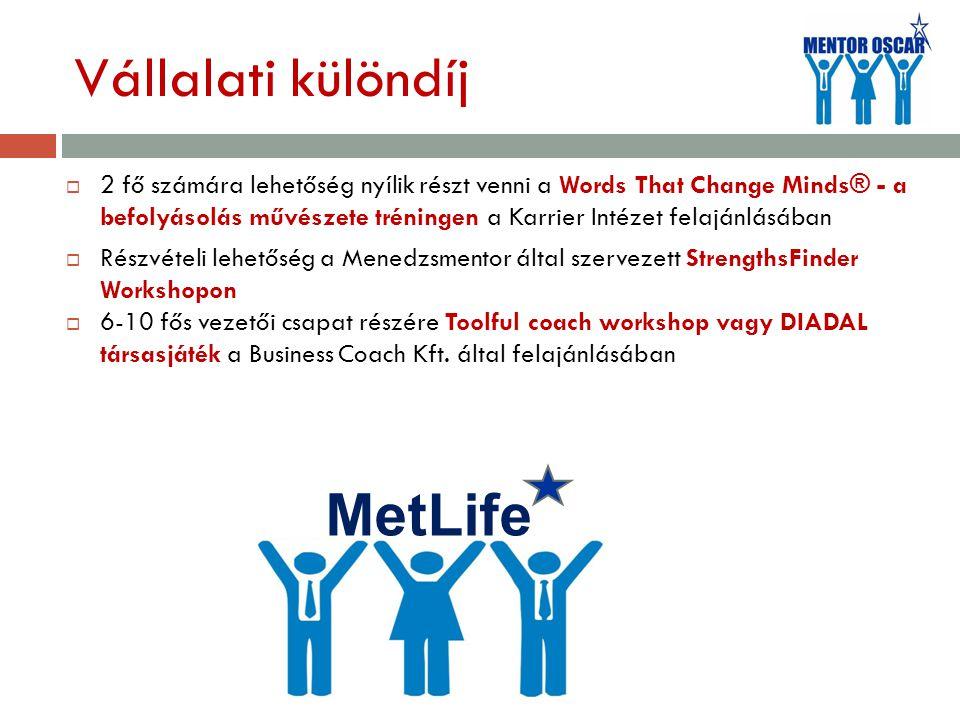 Vállalati különdíj MetLife