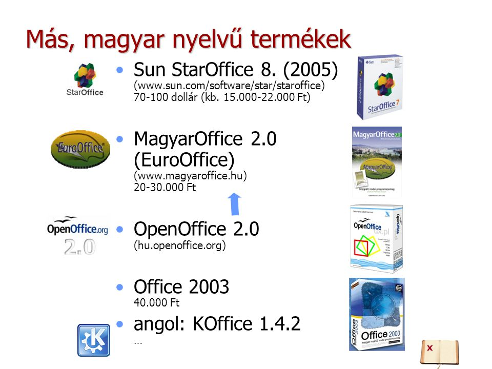 Más, magyar nyelvű termékek