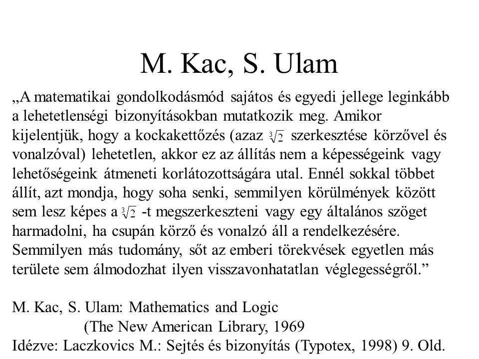 M. Kac, S. Ulam