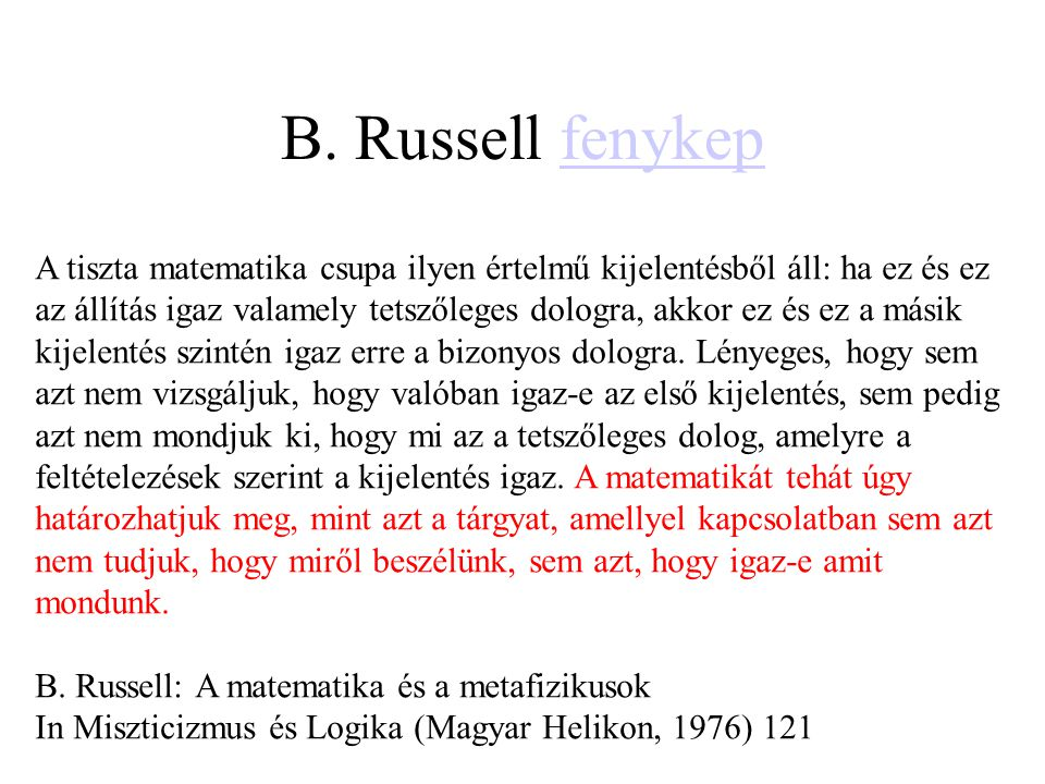 B. Russell fenykep
