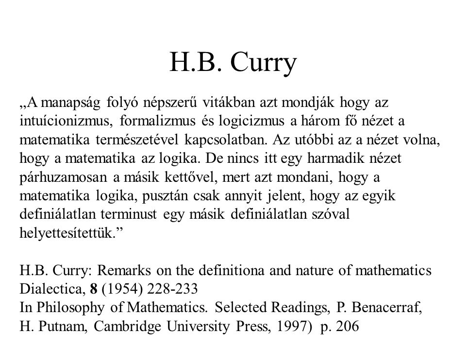 H.B. Curry
