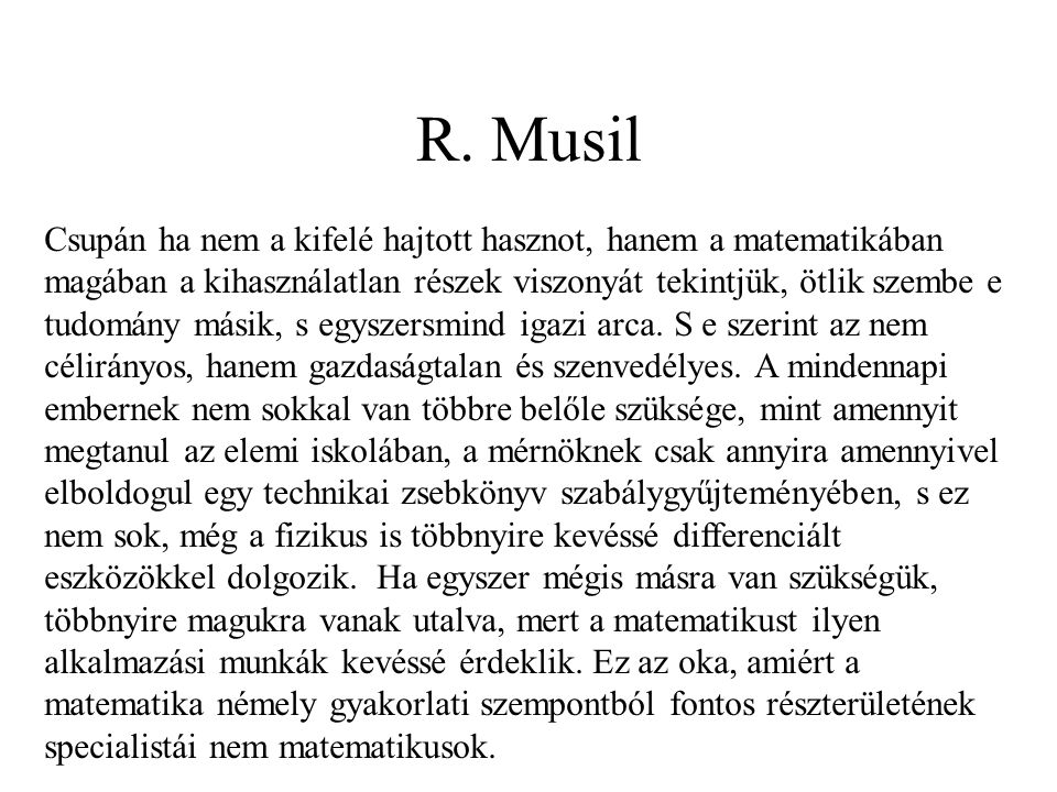 R. Musil