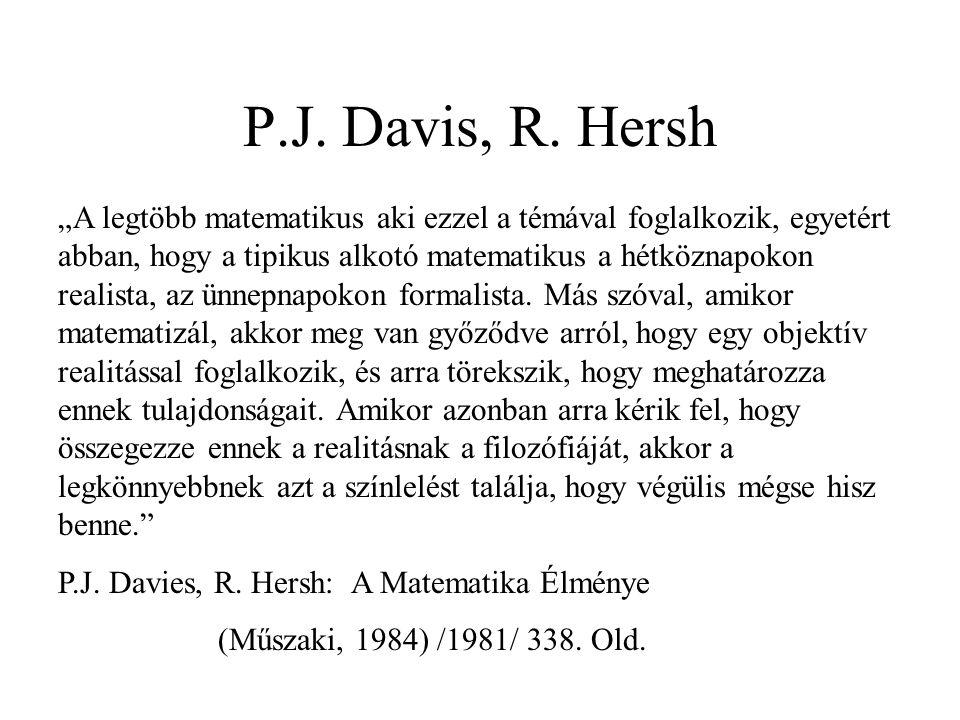 P.J. Davis, R. Hersh