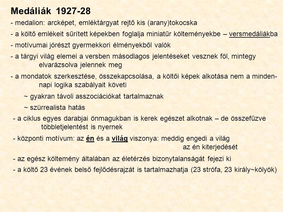 Medáliák 1927-28 - medalion: arcképet, emléktárgyat rejtő kis (arany)tokocska.