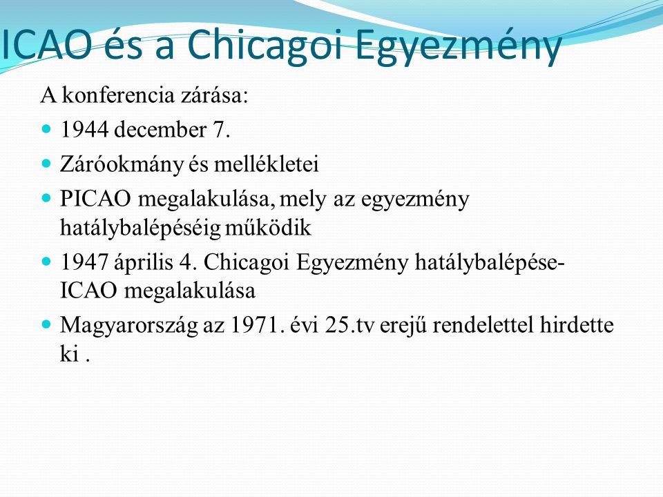 ICAO és a Chicagoi Egyezmény