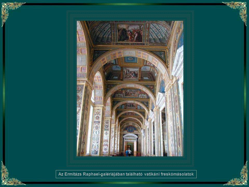 Az Ermitázs Raphael-galériájában található vatikáni freskómásolatok