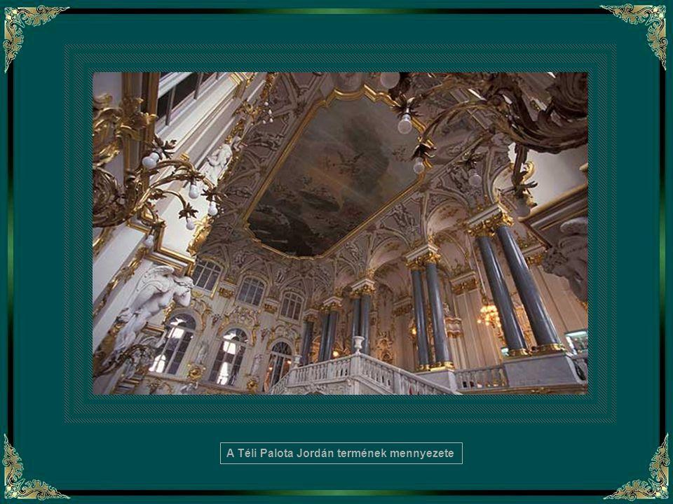 A Téli Palota Jordán termének mennyezete