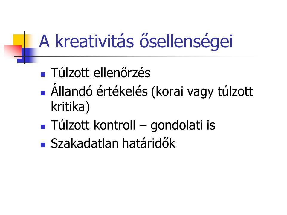 A kreativitás ősellenségei