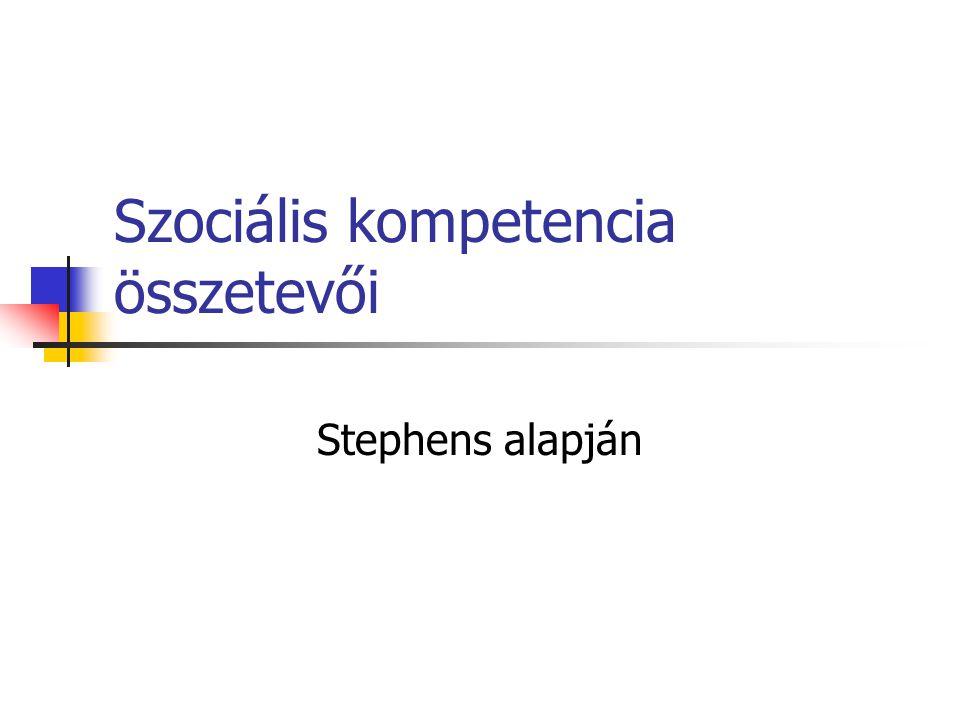 Szociális kompetencia összetevői