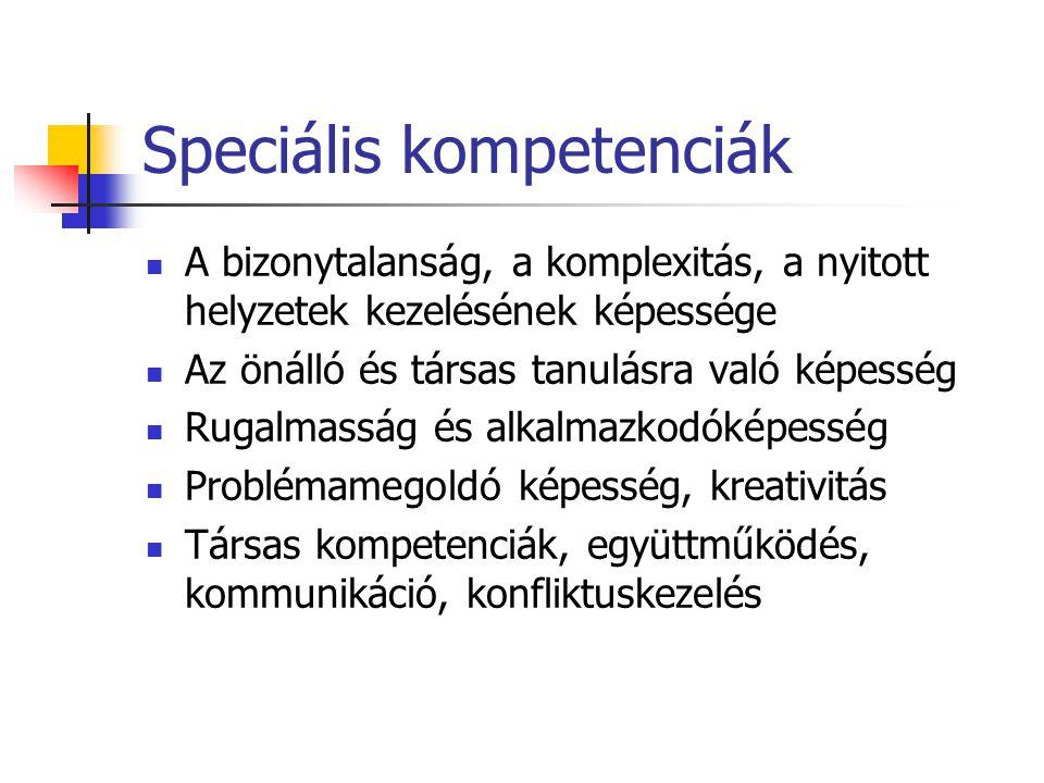 Speciális kompetenciák