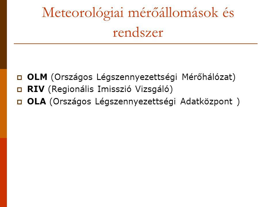 Meteorológiai mérőállomások és rendszer