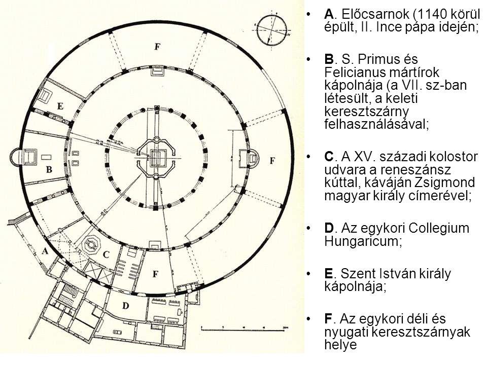 A. Előcsarnok (1140 körül épült, II. Ince pápa idején;