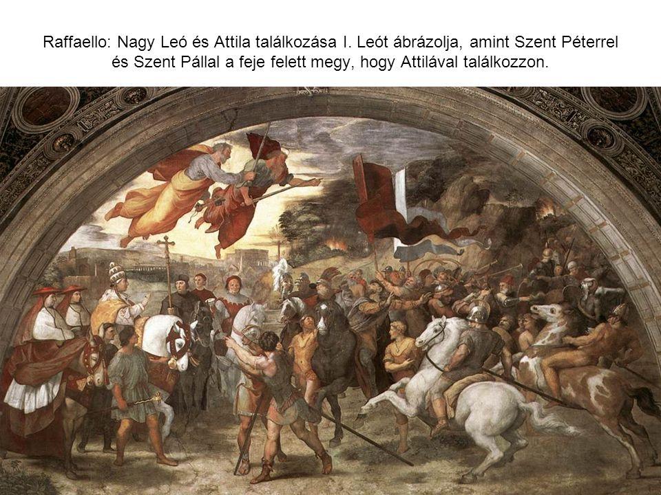 Raffaello: Nagy Leó és Attila találkozása I
