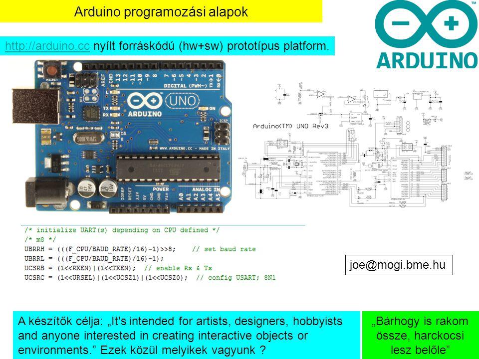 Arduino programozási alapok