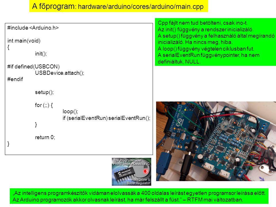 A főprogram: hardware/arduino/cores/arduino/main.cpp
