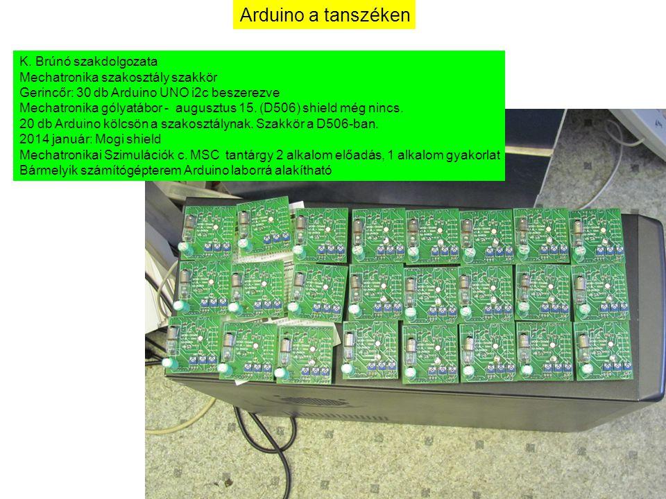 Arduino a tanszéken K. Brúnó szakdolgozata