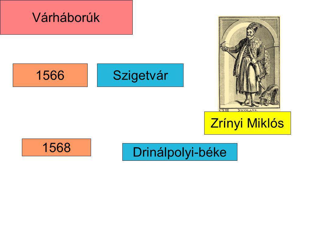 Várháborúk 1566 Szigetvár Zrínyi Miklós 1568 Drinálpolyi-béke