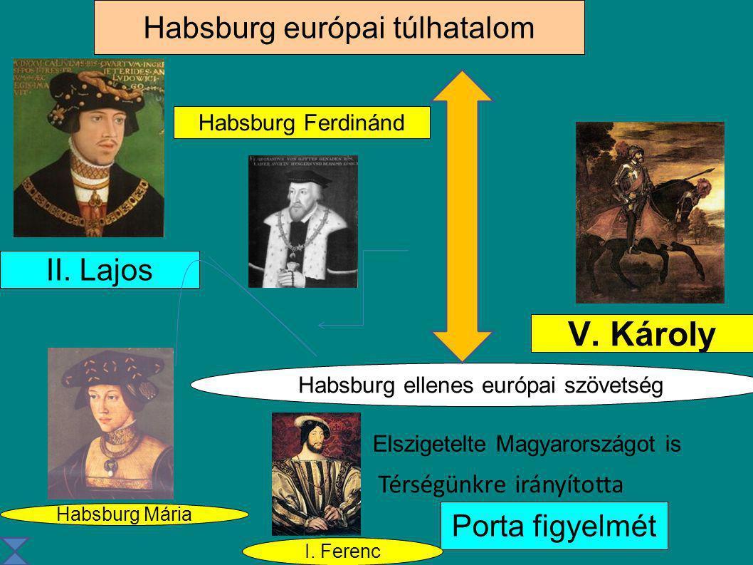V. Károly Habsburg európai túlhatalom II. Lajos Porta figyelmét