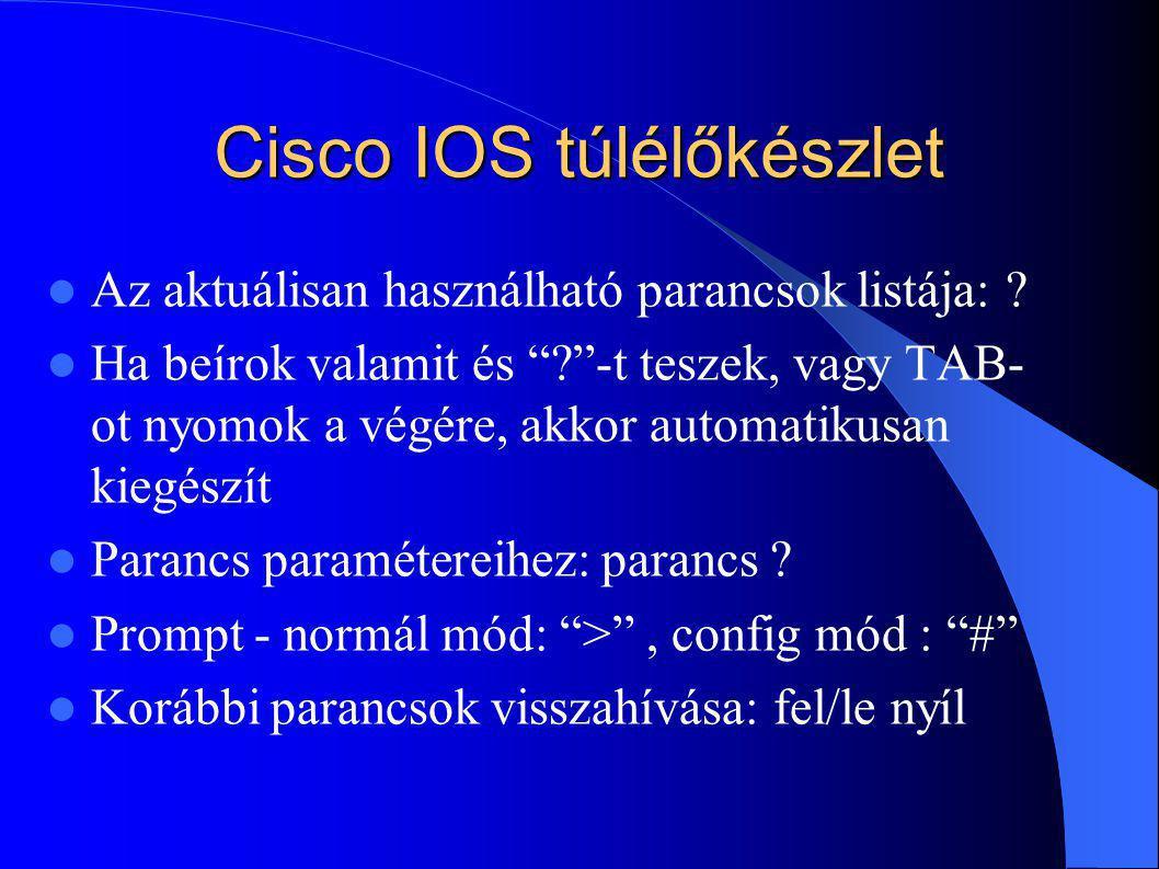 Cisco IOS túlélőkészlet