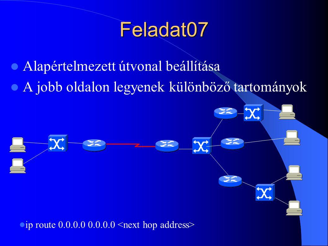 Feladat07 Alapértelmezett útvonal beállítása