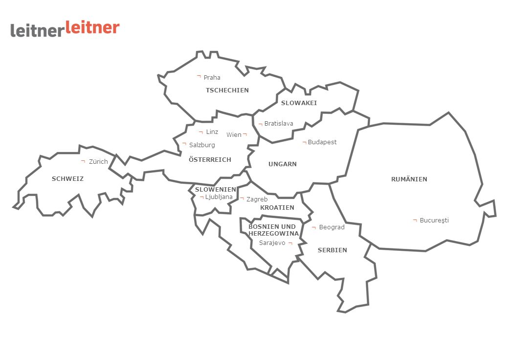 ┌ ┌ ┌ ┌ ┌ ┌ ┌ ┌ ┌ ┌ ┌ ┌ Praha TSCHECHIEN SLOWAKEI Bratislava Linz Wien