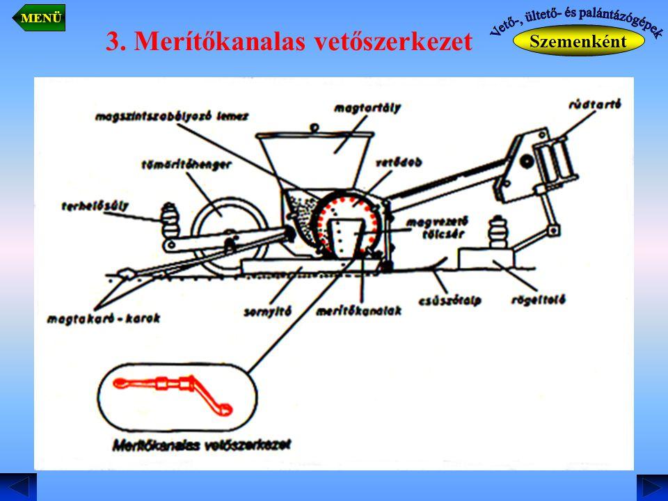 3. Merítőkanalas vetőszerkezet