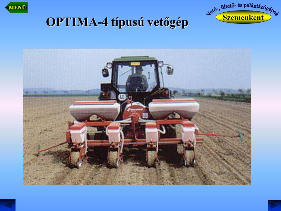 OPTIMA-4 típusú vetőgép