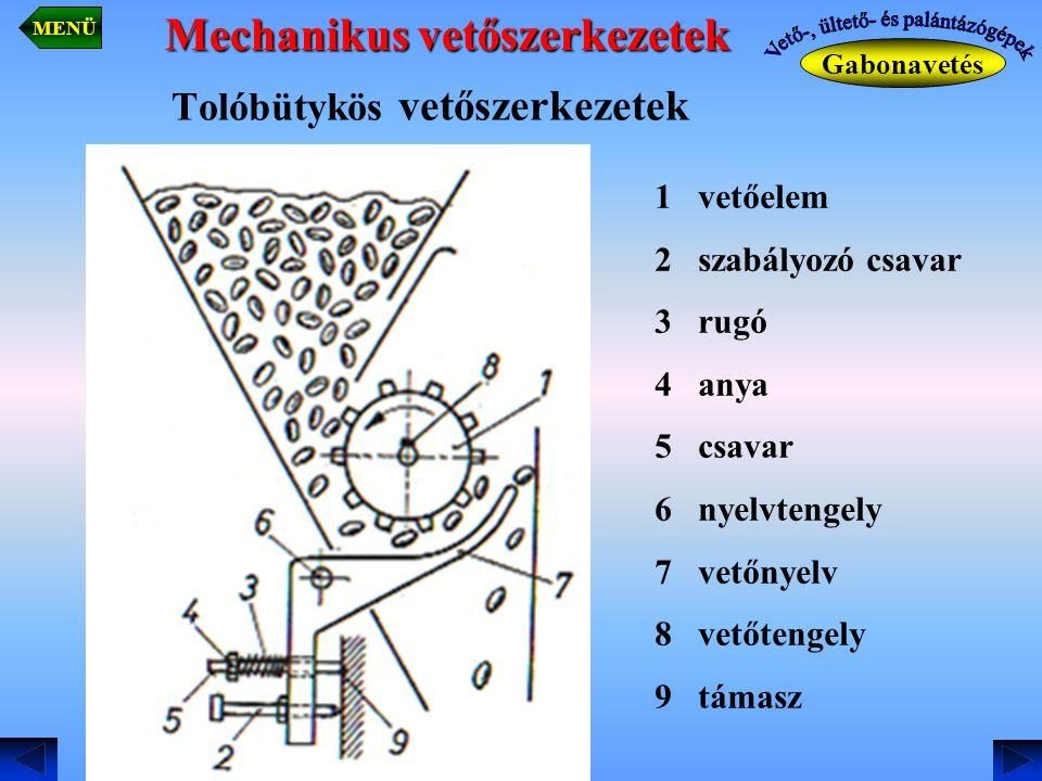 Tolóbütykös vetőszerkezetek