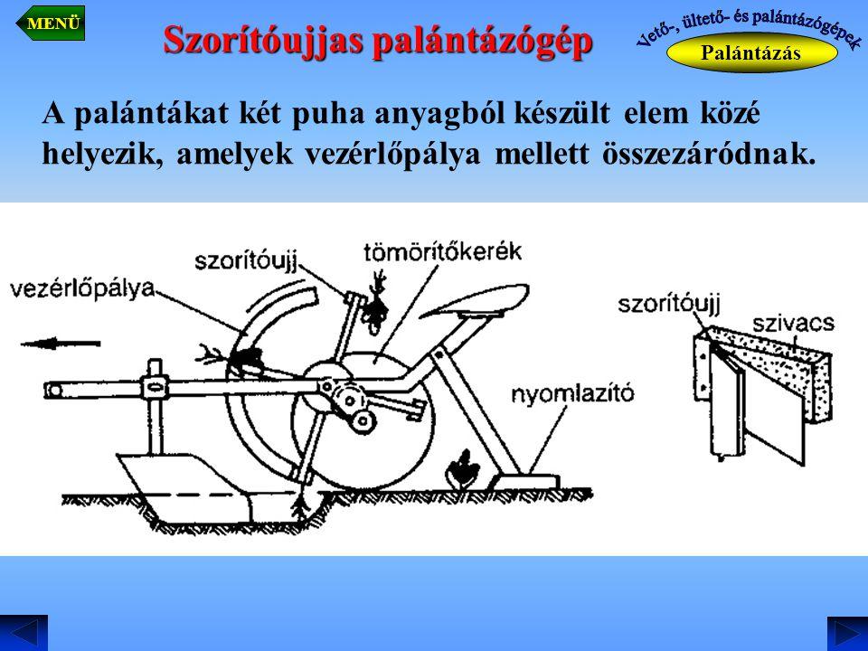 Szorítóujjas palántázógép