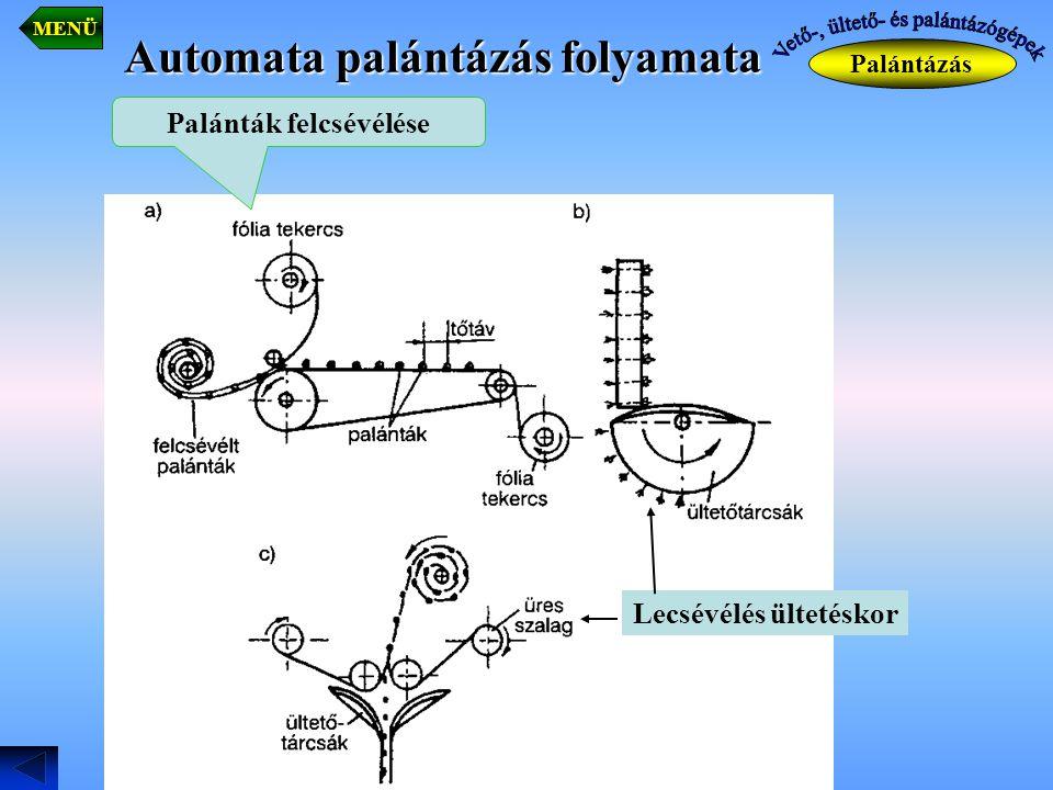 Automata palántázás folyamata