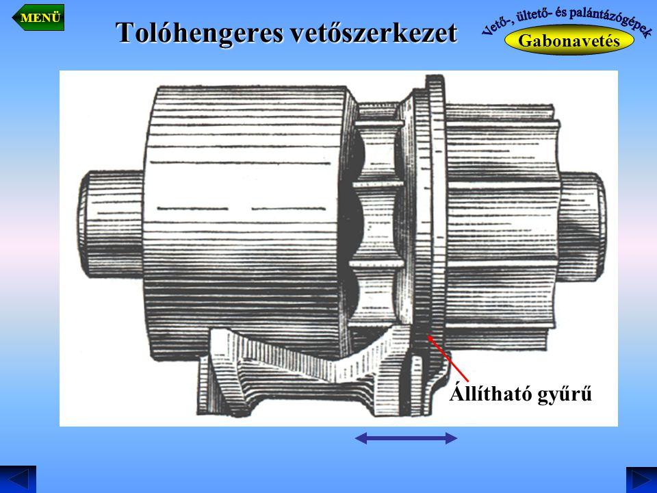 Tolóhengeres vetőszerkezet