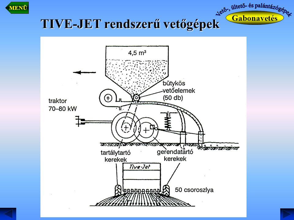 TIVE-JET rendszerű vetőgépek