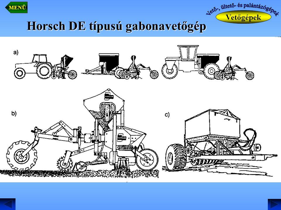 Horsch DE típusú gabonavetőgép