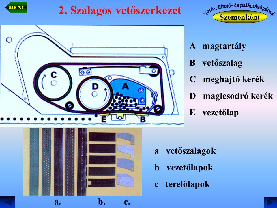 2. Szalagos vetőszerkezet