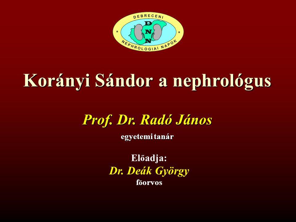 Korányi Sándor a nephrológus